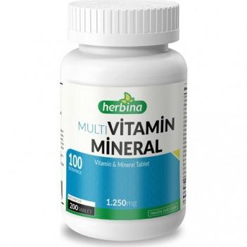 Herbina Multivitamin Mineral 200 Tablet 1250 mg