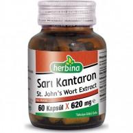 Herbina Sarı Kantaron St Johns Wort Ekstraktı 60 Kapsül x 620 mg