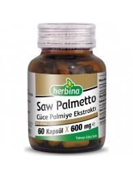 Herbina Saw Palmetto Cüce Palmiye Ekstraktı 60 Kapsül x 600 mg