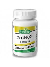 Herbina Zerdeçal Curcumin 200 Kapsül - 850 mg