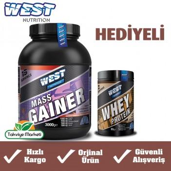 West Nutrition Mass Gainer Karbonhidrat 3000 gr + 88 gr Whey Protein Tozu Hediye