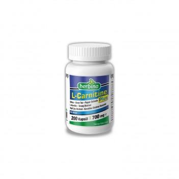 Herbina L-Karnitin Plus Yeşil Çay Citrus Karabiber 200 Kapsül 700 mg