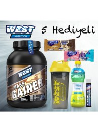 West Nutrition Mass Gainer Karbonhidrat Tozu - Hardline Carnifit + 5 Hediye